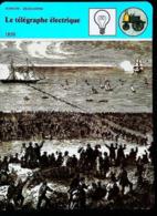 """Le Télégraphe électrique (1850) - FICHE HISTOIRE Illustrée (Cablier """"Great Eastern"""" )  - Série Sciences & Découvertes - Téléphonie"""
