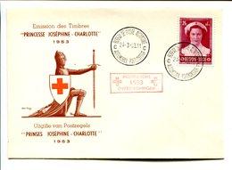 14153890 Belgium 19530328; Bureau De Poste Automobile; Croix Rouge; Inondations; Princesse Joséphine Charl. ; Pli Cob914 - Autres