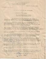 Circulaire Du Préfet De La Lozère Concernant La Répartition Du Carburant, 21/6/1944 - Documents Historiques