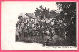 Laos - Groupe De Laotiens à Khong - Animée - Edit. MOTTET Et Cie Saïgon - Laos