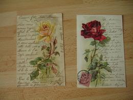 Catharina Klein Illustrateur Lot 2 Cpa Gaufree Rose - Klein, Catharina
