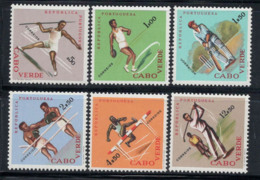 Cap-Vert 1962 Mi. 323-328 Neuf ** 80% Sports, Boxe, Golf, République - Kapverdische Inseln