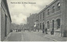 CAPELLE-AU-BOIS - KAPELLE-OP-DEN-BOS : La Place Communale - Cachet De La Poste 1910 - Kapelle-op-den-Bos