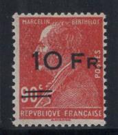 France 1928 Yv. 3 Neuf ** 80% Signé Jean Hotz Paris, 10 F Sur 90 C. - Franchise Militaire (timbres)