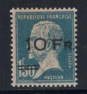 France 1928 Yv. 4 Neuf ** 100% Signé Jean Hotz Paris, 10 F Sur 1,50 F. - Franchise Militaire (timbres)