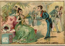 CHROMO BISCUITS LEFEVRE UTILE LU LES PRESENTS DE L'AMIRAL - Lu