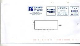 Lettre Flamme Ema Yvetot Mairie De Saint Valery Theme Phare - Postmark Collection (Covers)