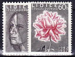 ** Tchécoslovaquie 1957 Mi 1030-1 (Yv 917-8), (MNH) - Unused Stamps