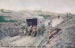 Military Postcard Army British Red Cross Ambulance - Altri
