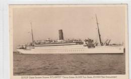 Ship Postcard Sea Ocean Boat Rmsp Atlantis - Altri
