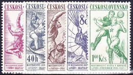 ** Tchécoslovaquie 1958 Mi 1058-62 (Yv 942-6), (MNH) - Unused Stamps