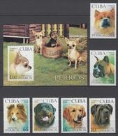 Cuba 2008 Kuba Mi 5122-5127 + Block 247 Breeds Of Dogs / Hunderassen / Races De Chiens / Razze Canine / Razas De Perros - Chiens