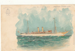 BATEAU )) Am Bord Der D Yacht   PRINZESSIN VICTORIA LUISE / Timbre Taxe Au Verso / ILLUSTRATION - Other