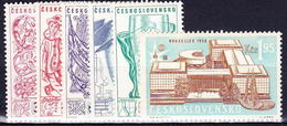** Tchécoslovaquie 1958 Mi 1068-72+1091 (Yv 952-6A), (MNH) - Unused Stamps