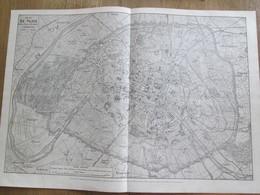Gravure 1864 Plan De La Ville De PARIS  Avec Les Travaux Et Embelissements - Europe