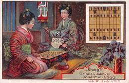 Chromo - Concours Sodex - Geishas Japonaises Jouant Au SHOGI - Eventail - Altri