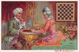 Chromo - Concours Sodex - Jeu De DAME - Une Partie Pendant L'Ere De Rococo - Trade Cards
