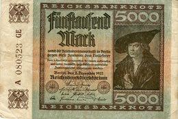 Allemagne Germany 5000 Mark 2 Dezember 1922 P81a - 5000 Mark
