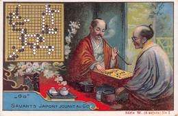 Chromo - Concours Sodex - Jeu De GO - Savants Japonais Jouant Au Go - Fumeur De Pipe - Trade Cards