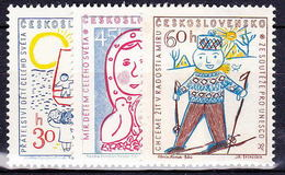 ** Tchécoslovaquie 1958 Mi 1106-8 (Yv 989-91), (MNH) - Unused Stamps