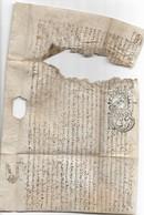 Acte Sur Parchemin Concernant Olichamp (Vosges), 30/6/1704 - Manuscrits