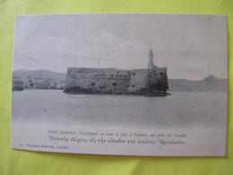 Petite Forteresse Vénitienne Et Tour à Feu à L'entrée Du Port De Candie   .     TBE - Greece