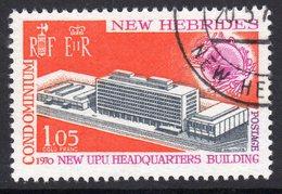 New Hebrides 1970 New UPU Headquarters, Used, SG 141 (BP) - Gebruikt