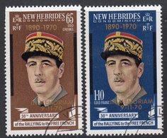 New Hebrides 1971 Death Of Charles De Gaulle Set Of 2, Used, SG 147/8 (BP) - Gebruikt