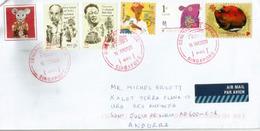 Année Du Rat à Singapour, Belle Lettre Adressée Andorra 2020 - Singapore (1959-...)
