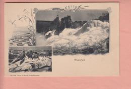 OUDE POSTKAART ZWITSERLAND - SCHWEIZ -    RHEINFALL - 1900'S - SH Schaffhouse