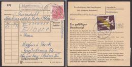 "Mi-Nr. 582, 614, ""Martinroda über Vacha"", Landpost Rhön!, Paketkarte, 1961 - [6] Democratic Republic"