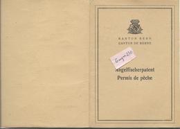 PORRENTRUY-  PERMIS De PECHE   1949 - JU Jura