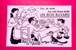 Buvard Appel De Stockolm Pour L'interdiction De La Bombe Atomique, Signé Mas - Löschblätter, Heftumschläge