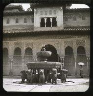 Court Of Lions, Alhambra, GRANADA, SPAIN - Magic Lantern Slide (lanterne Magique) - Glasdias
