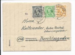 AM - Post 16 MiF  - 12 Pf. Geschäftsbrief Von Mülheim/Ruhr Nach Berchtesgaden Verw. - Bizone