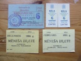 Riga City  Monthly Ticket     USSR / LATVIA - Europe