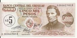 URUGUAY 5 NUEVOS PESOS ND1975 UNC P 57 REPLACEMENT ( 2 Billets ) - Uruguay