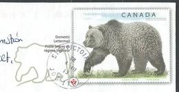 FZ-/-001-- CANADA - LETTRE REGIME INTERIEUR - GRIZZLY BEAR En ENTIER POSTAL REELLEMENT CIRCULE - DATE = 22/03/2013, TTB - Oblitérés