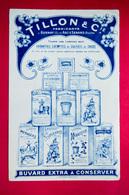 Buvard TILLON, Modèle Bleu, Savon, Lessive - Produits Ménagers
