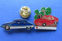 2 Pin's,CITROËN,SEEGARAGE, XANTIA,AUTO-GARAGE,SUISSE - Citroën