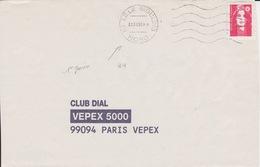 Lettre 1996 Avec TàD Jour Férié 1er Premier Janvier : 59 LILLE MOULINS NORD Machine SECAP Sur Marianne De Briat TVP - Marcophilie (Lettres)