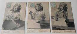 Série 3 Cartes Postales :: Horoscope De Bébé :::: Portrait Enfant - Portraits