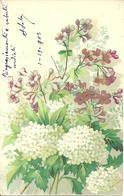 Cartolina Con Mazzo Di Fiori, Carte Postale Avec Bouquet De Fleurs - Fiori