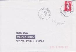 Lettre 1995 Avec TàD Jour Férié 1er Premier Mai : 89 GRON GA YONNE Guichet Annexe Sur Marianne De Briat TVP - Marcophilie (Lettres)