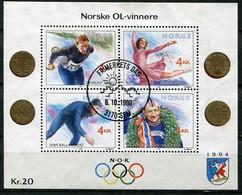 Norway Mi# Block 14 Used - Wintersports Olympic Winners - Blocks & Sheetlets