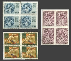 POR#3750-Complete Set Of 3 Blocks Of 4 MNH Stamps - 5.centenário Do Nascimento De Pedro Alvares Cabral - Portugal - 1969 - Blocs-feuillets