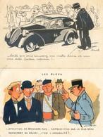 Lot De 2 Cartes - Illustrateur Jean Cheval - Facteur Releveur - Les Bleus - Cheval
