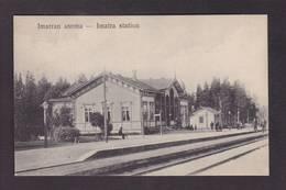 CPA Finlande Finland Imatra Gare Chemin De Fer Non Circulé - Finland