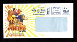 Enveloppe Cirque Pinder, Jean Richard, EMA, Clown, Elephant, Lion, Tigre, Chameau, - Cirque