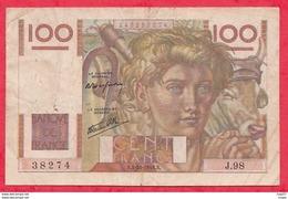 """100 Francs """"Jeunes Paysan """" Du 03/10/1946.B---TB---ALPH.  J.98 - 1871-1952 Circulated During XXth"""